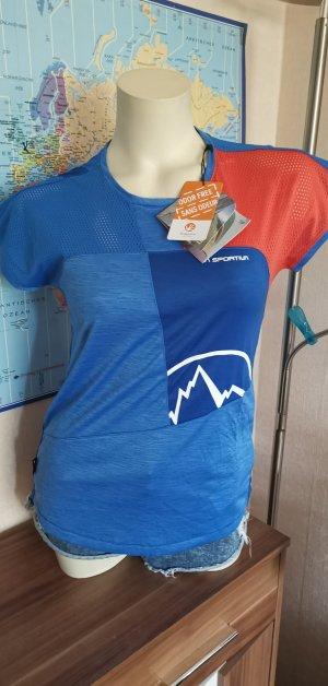 Sportshirt neon blauw