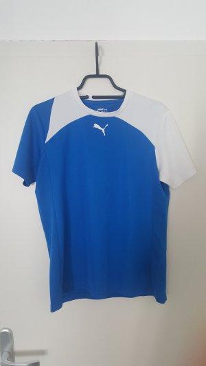 Puma Sportshirt wit-neon blauw