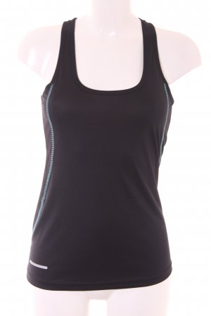 Sportshirt schwarz-babyblau sportlicher Stil