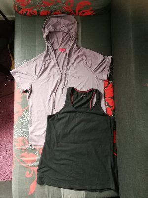 Sportshirt Set*Venice Beach*Gr. 44 (L/XL)*neuwertig*lila/schwarz