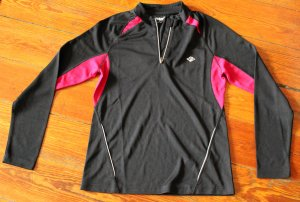 Sports Shirt black-magenta polyester