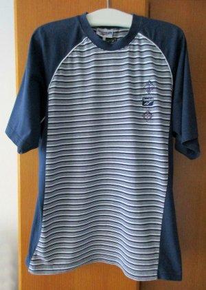 Sportshirt T-Shirt blau dunkelblau weiß Gr. XXL