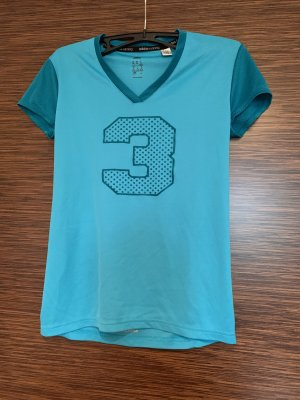 Adidas Sports Shirt turquoise-steel blue