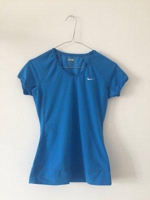 Nike Canotta sportiva blu neon Tessuto misto