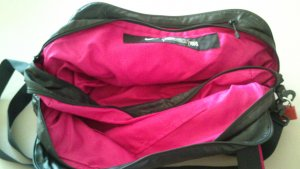 Nike Sports Bag black-violet synthetic material