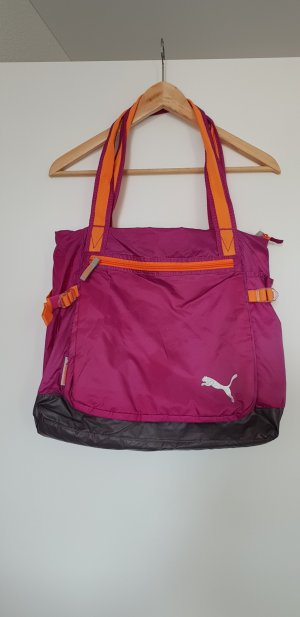 Puma Sac de sport orange fluo-rose