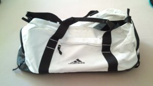 Adidas Sports Bag black-white synthetic material