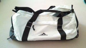 Adidas Sporttas zwart-wit kunststof