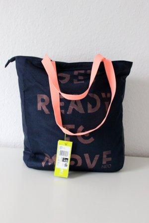 Sporttasche adidas NEO mit Henkeln und Netzstoff neon Schrift