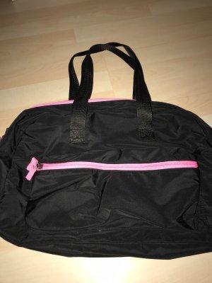 Takko Bolsa de gimnasio negro-rosa neón