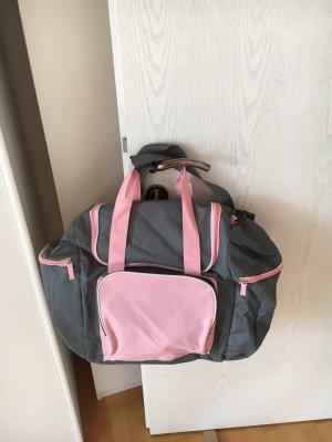 Bolsa de gimnasio gris-rosa