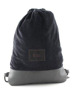 Sporttasche schwarz Materialmix-Look