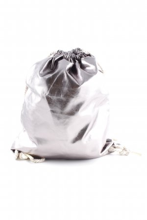 Sports Bag silver-colored casual look