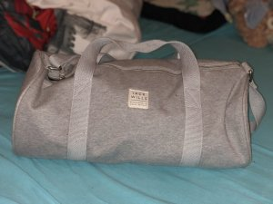 Jack Wills Bolsa de gimnasio gris claro-gris
