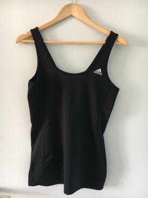 Adidas Sports Tank black-silver-colored polyester