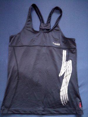 Sporttop zwart-zilver