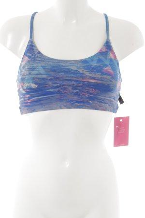 Sporttop blauw-roze Patroon-mengeling atletische stijl
