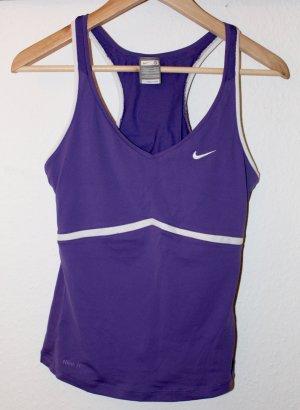 Sporttop in Lila/ Nike Gr. S