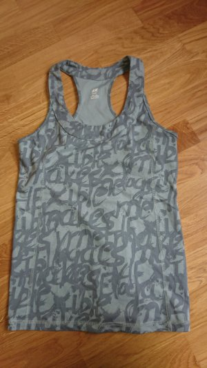 H&M Sporttop lichtgrijs-grijs