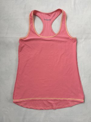 Desigual Sports Tank bright red synthetic fibre