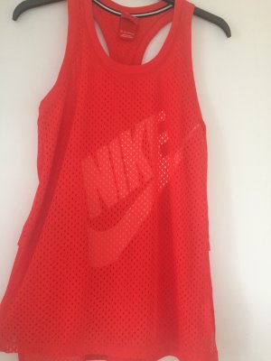 Nike Sporttop rood-wit