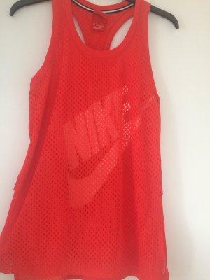 Nike Débardeur de sport rouge-blanc