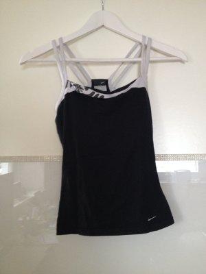 Sporttop von Nike in schwarz und weiß Größe XS
