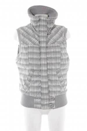 Sportvest glencheck patroon casual uitstraling