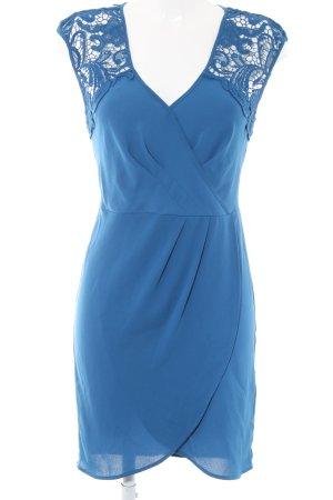 Spotlight by Warehouse Chiffon jurk blauw Patroon-mengeling casual uitstraling