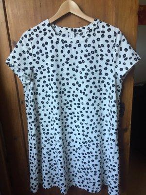 Mango A-lijn jurk wit-zwart