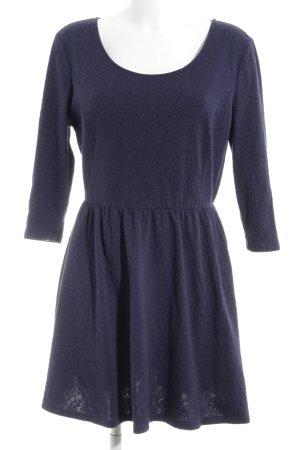 Springfield A-Linien Kleid dunkelblau Blumenmuster schlichter Stil