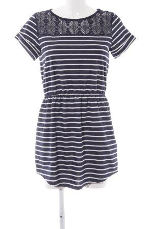 Springfield A-Linien Kleid dunkelblau-weiß Streifenmuster Casual-Look