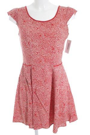 Springfield A-Linien Kleid wollweiß-dunkelrot Casual-Look