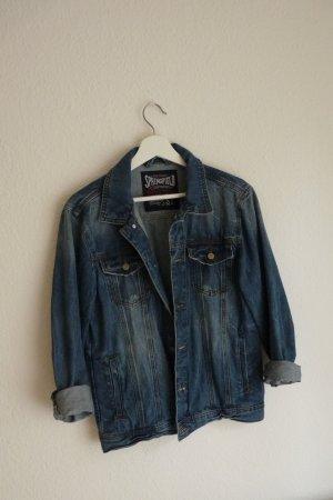 Springfield Jeansjacke S M 38 40 Oversize blau Streetwear Urbanstyle Fashion Blogger Skater