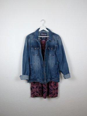 springfield jeansjacke S M 38 40 oversize jeans blau