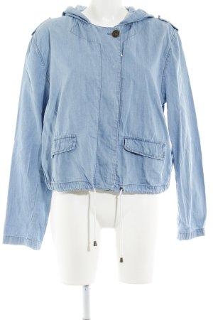 Springfield Kurzjacke stahlblau Jeans-Optik