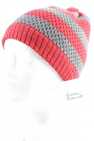 Springfield Fabric Hat grey-red striped pattern street-fashion look