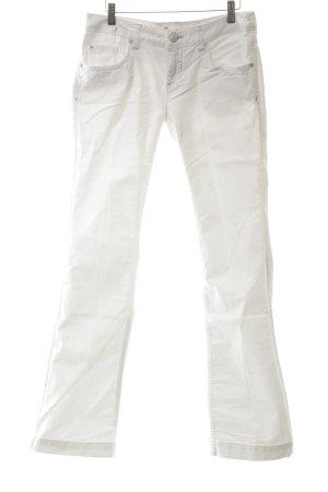 Springfield Straight-Leg Jeans weiß Casual-Look