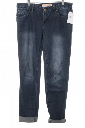 Springfield Stretch Jeans dunkelblau Washed-Optik