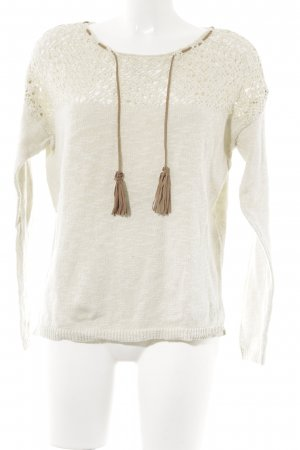 Springfield Strickpullover creme Casual-Look