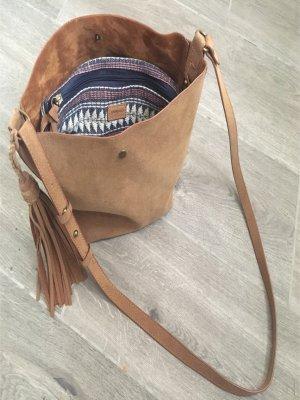 Springfield Gekruiste tas bruin-donkerblauw