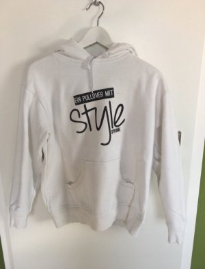 Hooded Sweater black-white