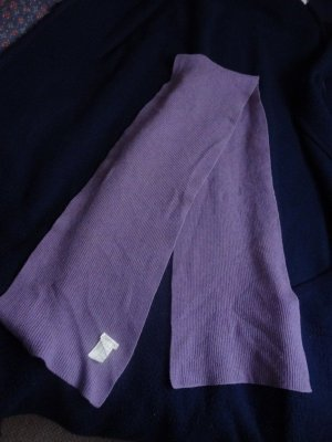 Esprit Sciarpa di lana lilla Tessuto misto