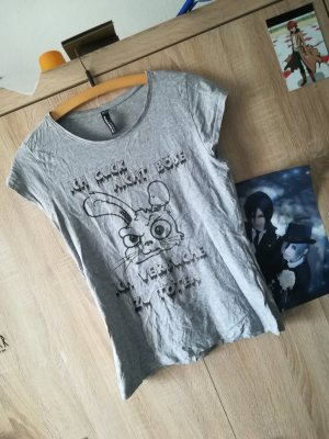 Blind Date T-shirt zwart-lichtgrijs