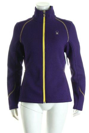 Spyder Fleecejacke dunkelviolett-gelb sportlicher Stil