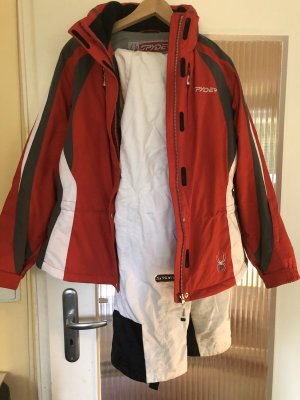 Spyder Chaqueta para exteriores rojo ladrillo-blanco