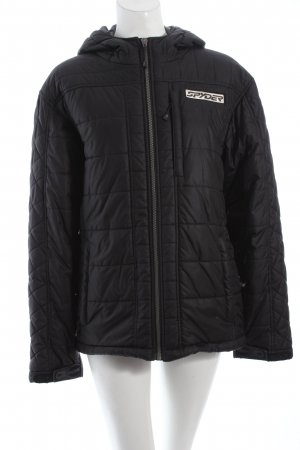 Spyder Winterjacke schwarz Applikation