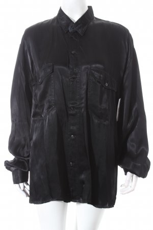 Squash Sportswear Long Sleeve Blouse black shimmery