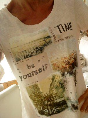 SREET ONE T-Shirt rosepfirsisch mit Aufdruck 42
