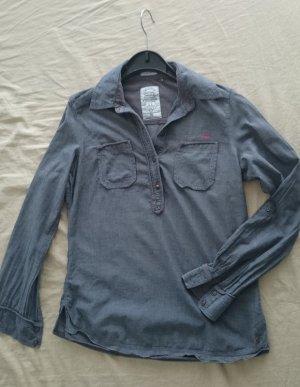 sse qs by s.oliver tunika bluse grau Gr. 36